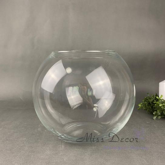 Стеклянная ваза шар 26 см