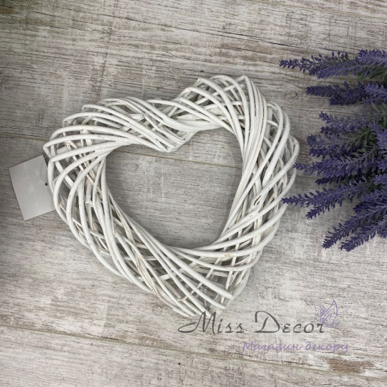 Сердце с лозы 25 см 27131