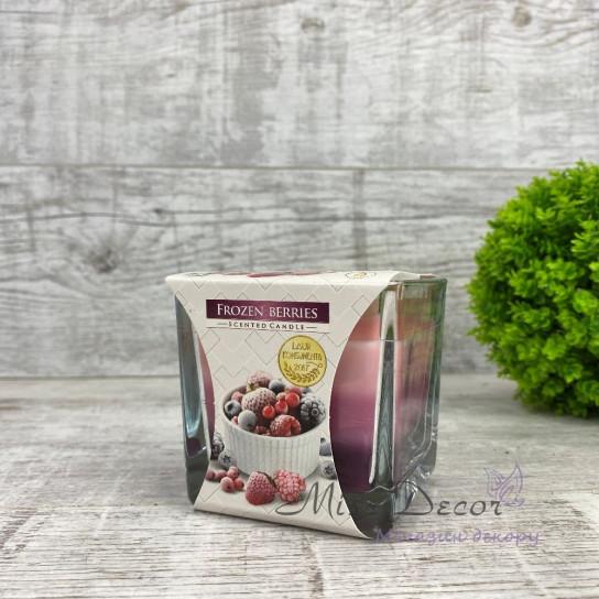 Ароматическая трехцветная свеча в стекле BISPOL frozen berries