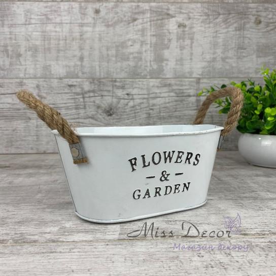 Кашпо Flowers&garden овальное малое PY0018S