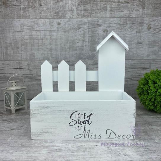 Дерево домик + заборчик белый