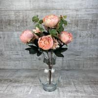 пион букет розовый
