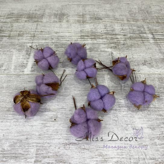 Хлопок фиолетовый 20 шт