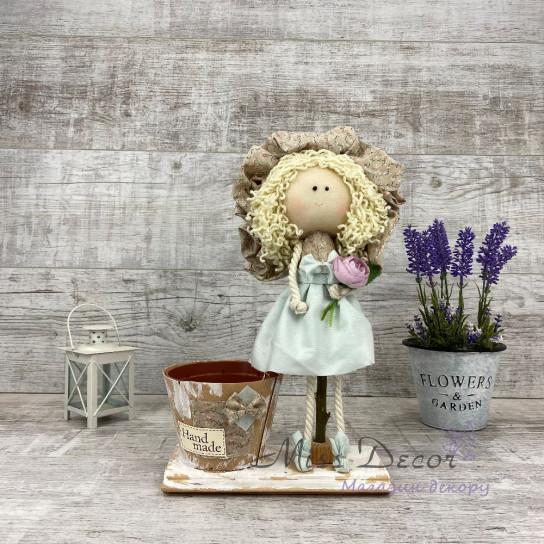 Интерьерная кукла Дама в шляпе