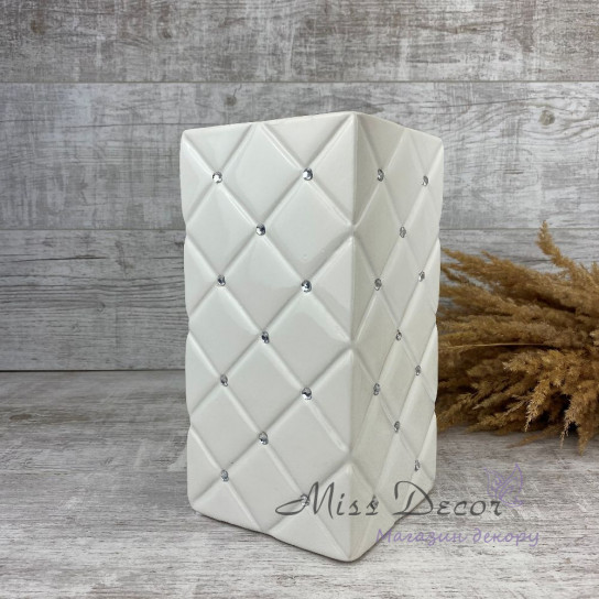 Керамика ваза белая гламур  02.675.26