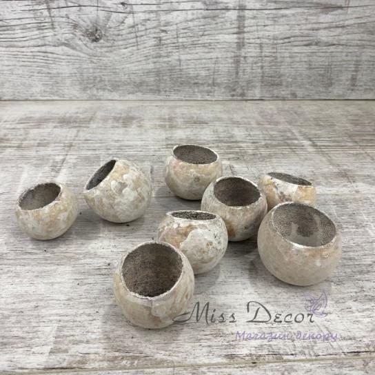 "Сухоцвет головки ""bell cup""  белые цена за упаковку LB1002402"