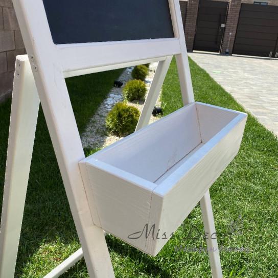 Садовая грифельная доска + ящик