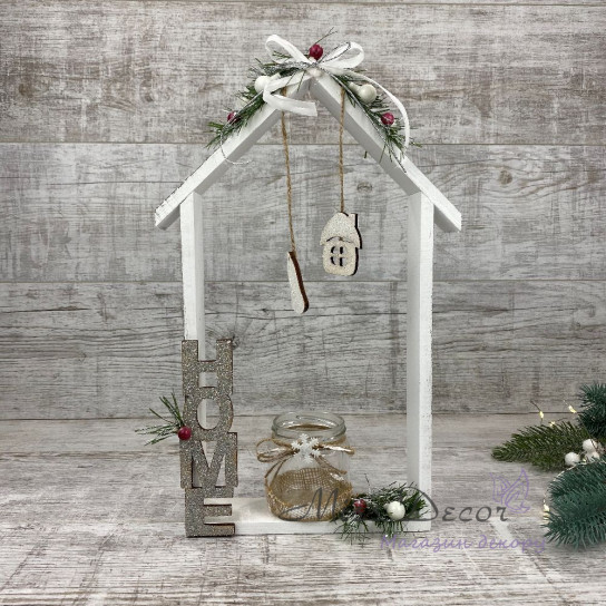 Новогодний домик посвечник