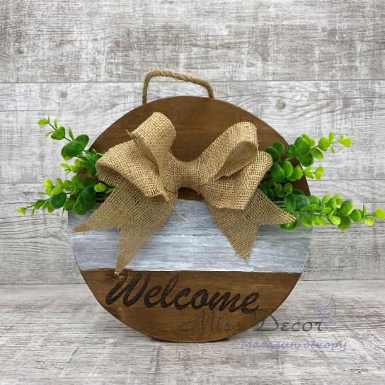 Доска декоративная welcome коричневая