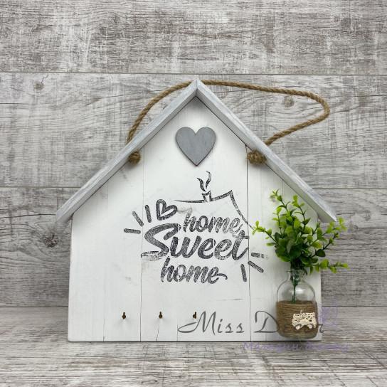 Декоративная доска домик белый
