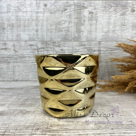 Керамика кашпо gold 02.628.15