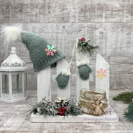 Новогодний заборчик подсвечник