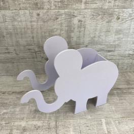 Кашпо слон фиолетовый