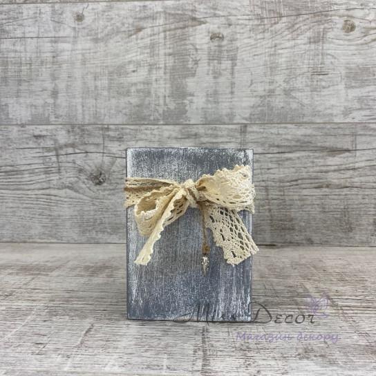 Вазочка деревянная 15 см