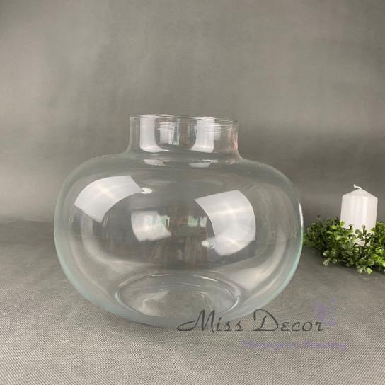 Стеклянная ваза 22 см