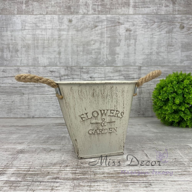 Кашпо металлическое flowers
