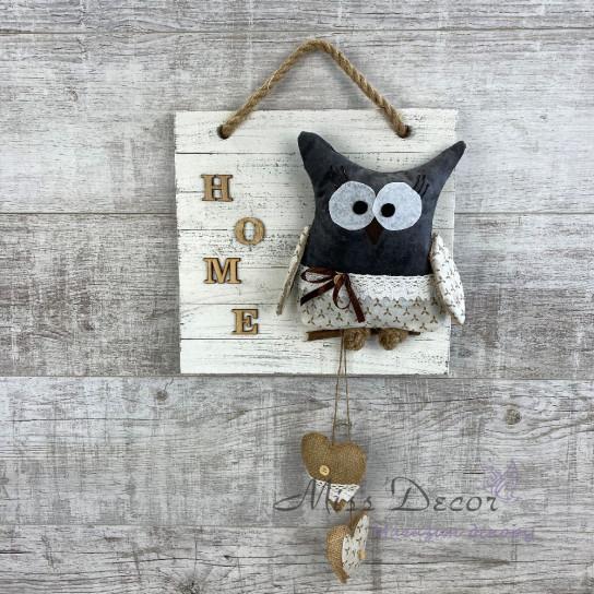 Доска декоративная сова