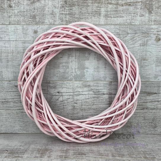 Венок из лозы 40 см нежно розовый