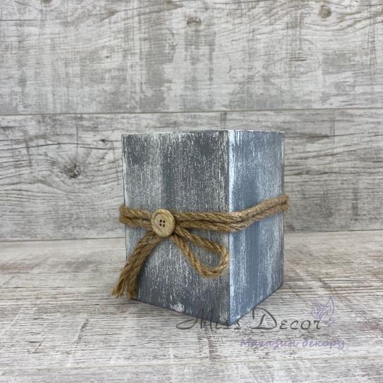 Вазочка деревянная Прованс 15 см