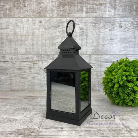 Фонарь декоративный LED зеркальный малый черный