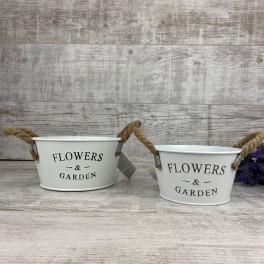 Кашпо круглое Flowers&garden малое 132823