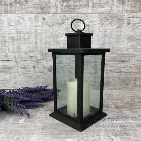 Фонарь декоративный LED  черный