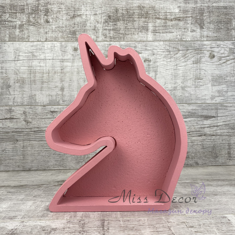 Пенобокс единорог розовый