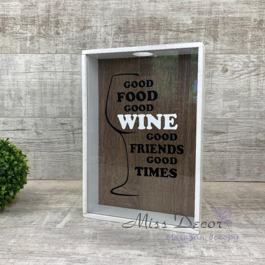 Копилка для винніых пробок good wine белая
