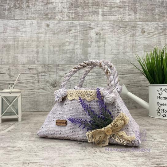 Сумочка кашпо lavender