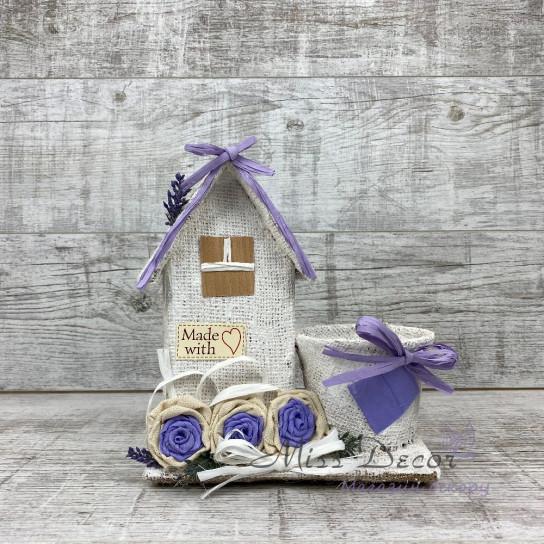 Кашпо + домик lavender