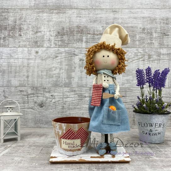 Интерьерная кукла Повар + кашпо