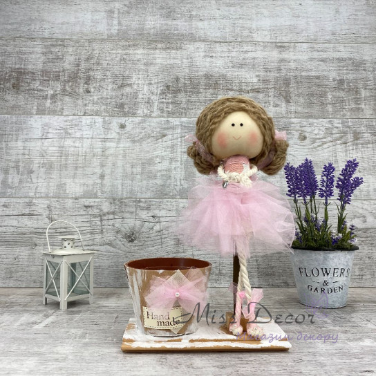 Интерьерная кукла Балерина + кашпо