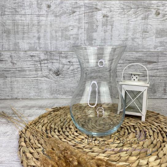 Стеклянная ваза 18 см