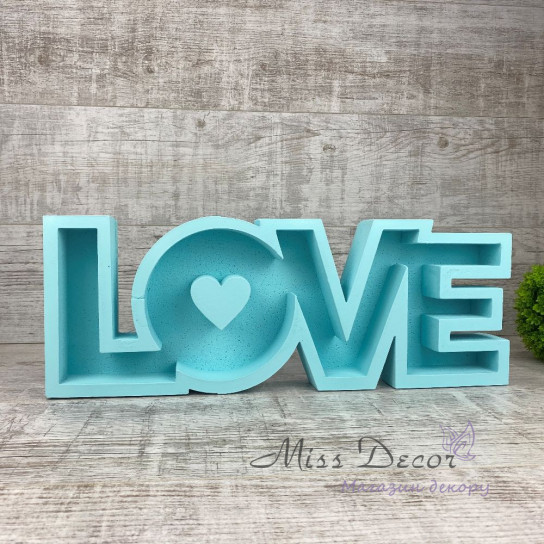 пенобокс love голубой