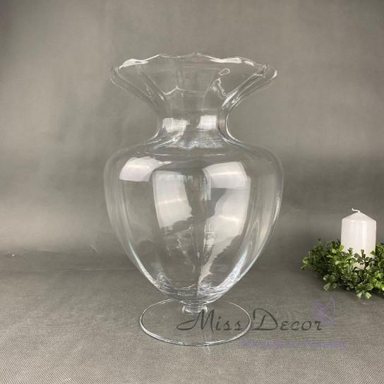 Стеклянная ваза фигурная 33 см