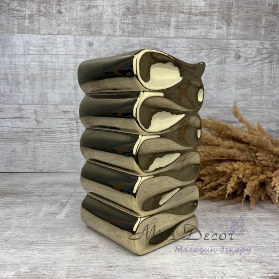 Керамика ваза волна gold 31.127.26