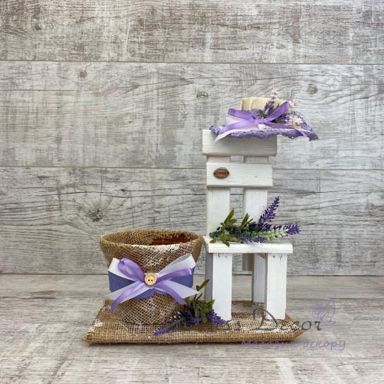 Кашпо + стульчик lavender