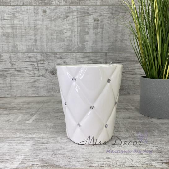 Керамика ваза гламур белая  02/692/14