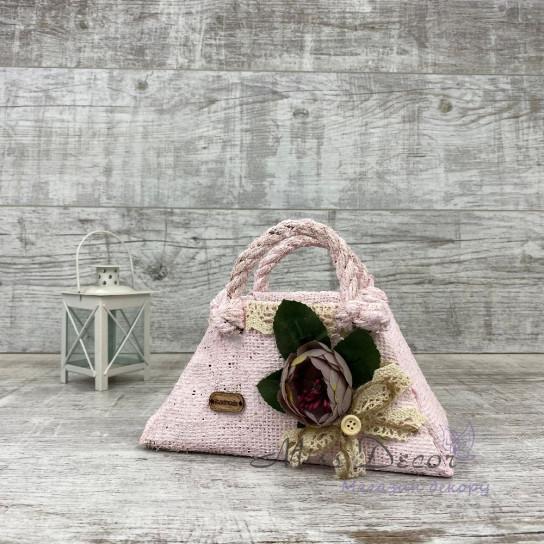 Сумочка кашпо розовая