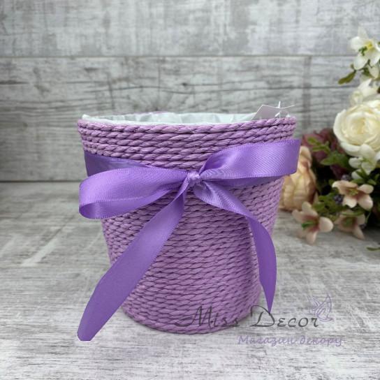Кашпо декоративное фиолетовое WY13-125