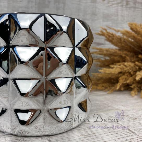 Керамика кашпо silver 05.152.15