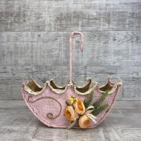 Зонтик 3 Д малый розовый