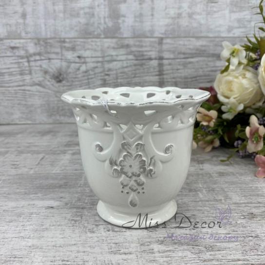 Кашпо керамика малое LJ1445216WA