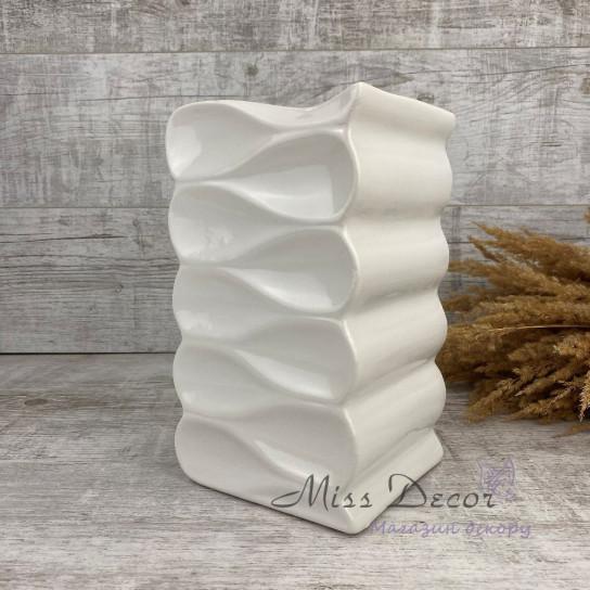 Керамика ваза волна white  02.659.26