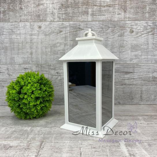 Фонарь декоративный LED зеркальный белый