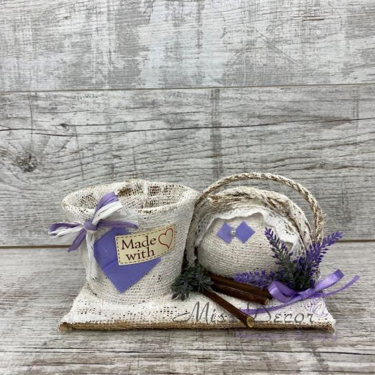 Кашпо + сумка lavender