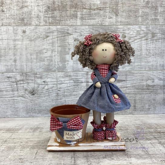 Кукла интерьерная мини в сарафане