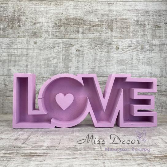 Пенобокс love лиловый