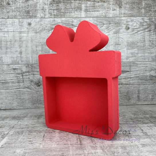 Пенобокс подарок красный