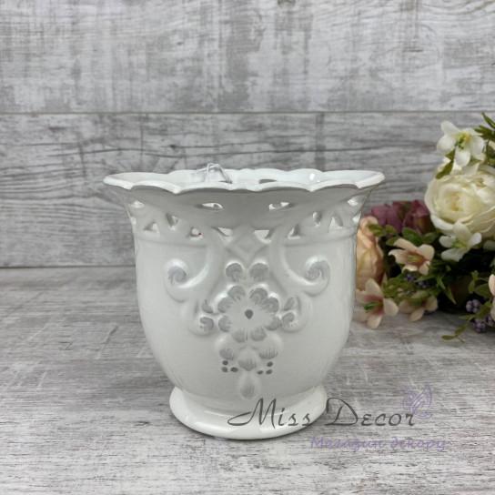 Кашпо керамика среднееLJ1445216WB